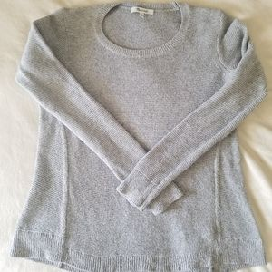 Madewell gray ribbed sweater